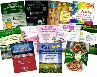 promotional flyer etsy