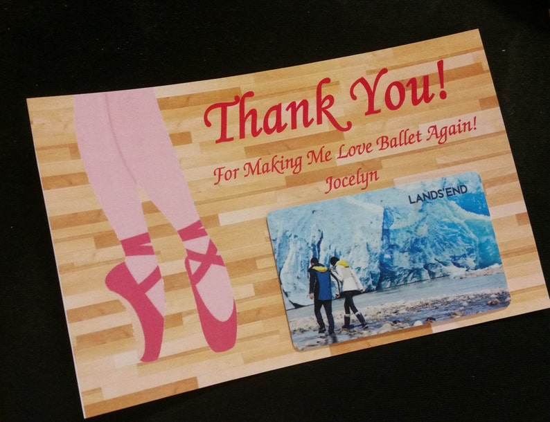Printable Gift Card Holder  Thank You Card image 0