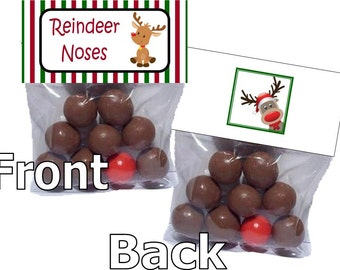 Reindeer Noses - goody bags - bag toppers