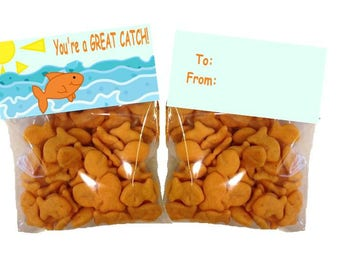 You're A Great Catch! Goldfish bag - goody bags - bag toppers