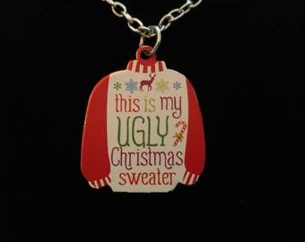 Ugly sweater necklace