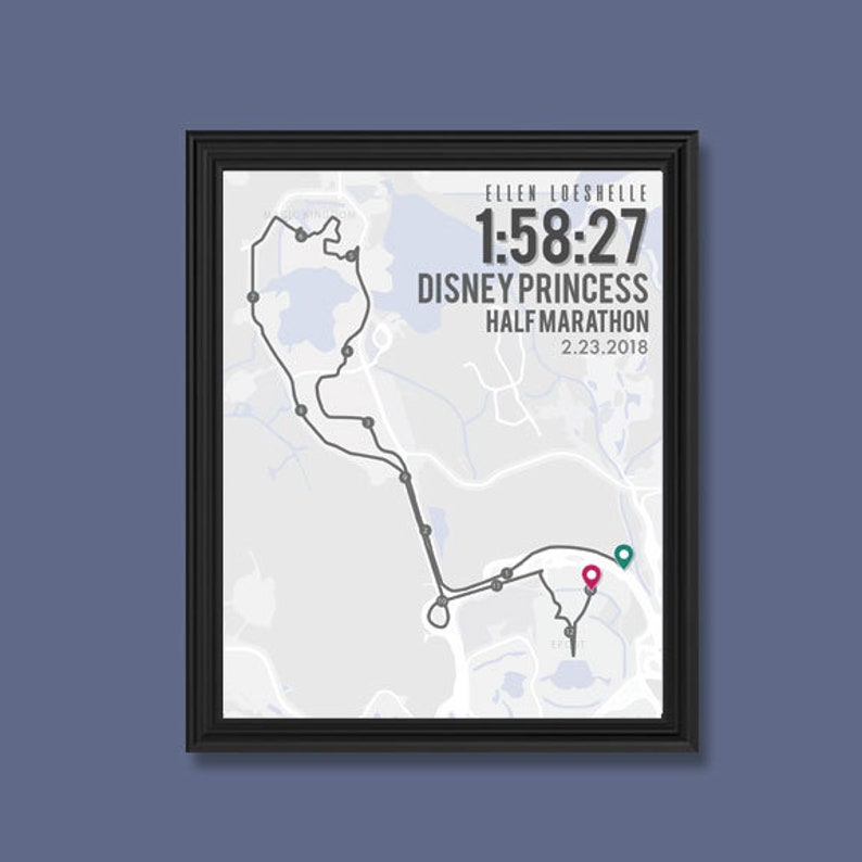 Disney Princess Half Marathon Print Customizable Running | Etsy on