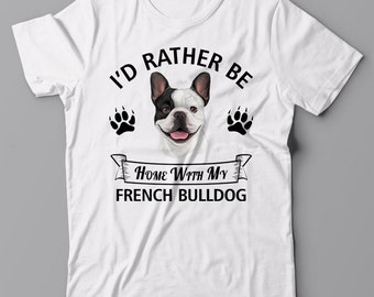I/'d rather be home with my Border Collie DOG BORDER COLLIE T-shirt gift Tee
