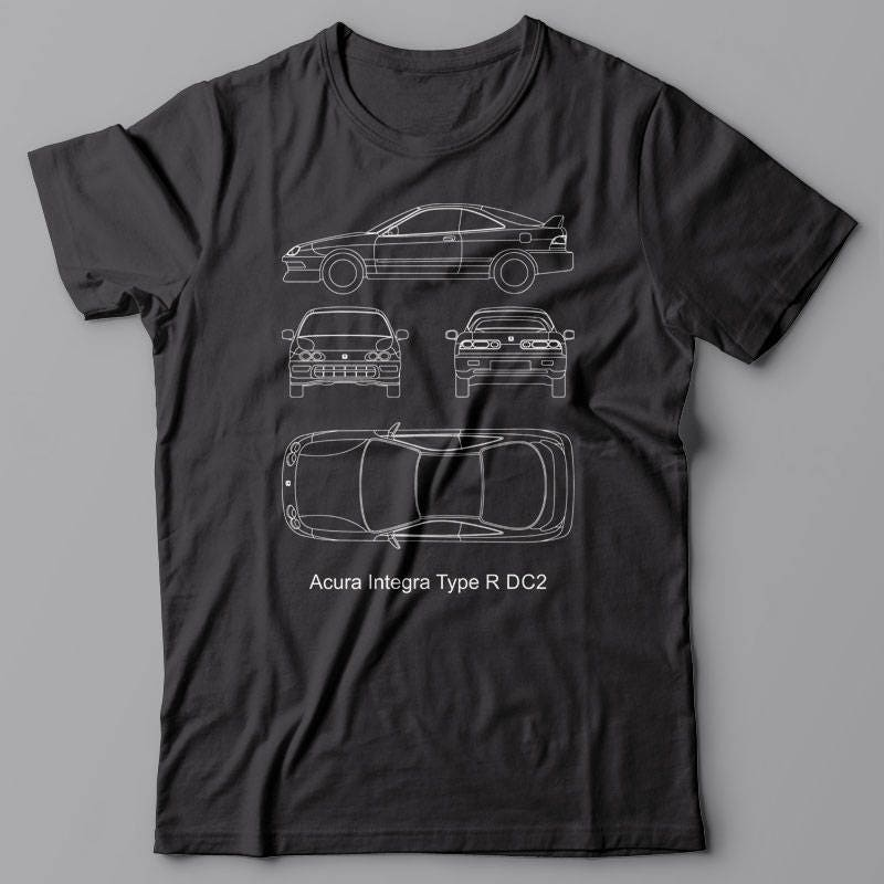 Funny Tshirt Acura Integra Type R DC JDM Drift Gift For - Acura shirt