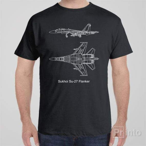 MIG 29 Air Fighter Aircraft Jet Flugzeug Blueprint USSR Russia War T-Shirt