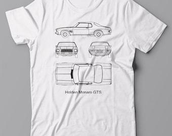 Cool T-shirt Holden Monaro GTS car - gift for men