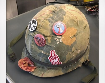 49ab332069a The Thousand Yard Stare Custom Authentic Vietnam War Helmet