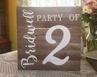 "Custom ""PARTY OF"" Sign"