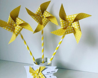 Yellow pinwheels