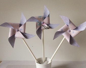 Purple & pink pinwheels