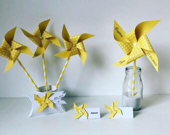yellow windmills