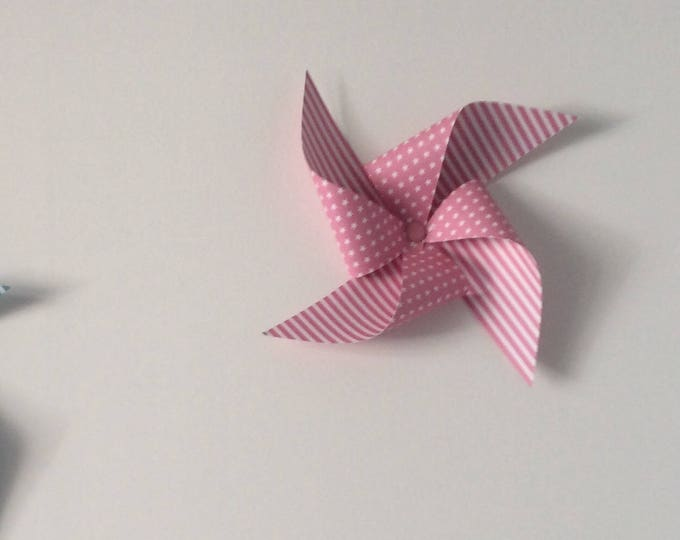 Windmill decor mural, deco room, baptism, wedding, room child, pink