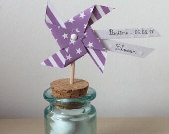 moulin à vent sur pic violet