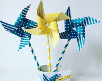 Pinwheels wind, turquoise, baptism, wedding