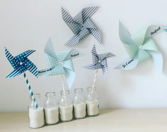 windmill, decor, wall decor room, baptism, wedding, room child, green, Aqua Green