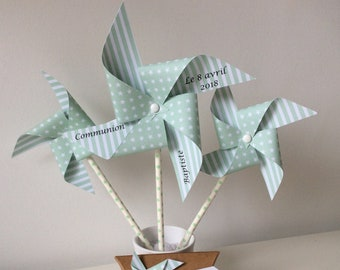 Windmills, large, green water mill, green, aqua, christening, wedding, anniversary