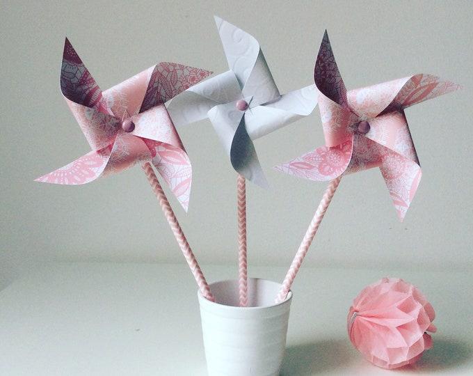Windmills rose & lace