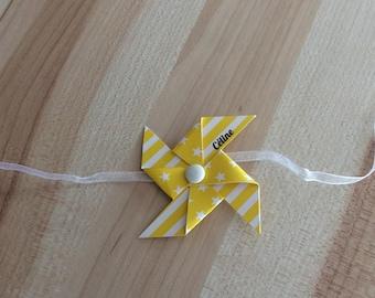 Yellow mill napkin ring
