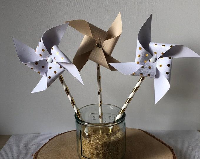 Gold pinwheels