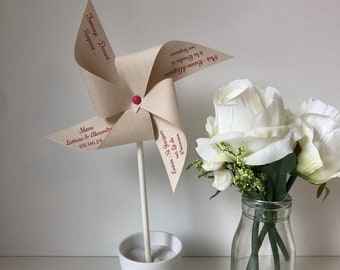 Menu, windmill, Deco table, bapteme, wedding, Kraft
