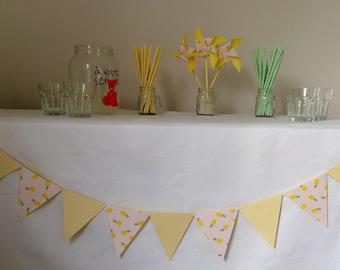 Garland, flags, baptism, wedding, deco, yellow, pineapple
