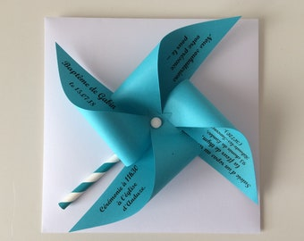 Share turquoise windmill