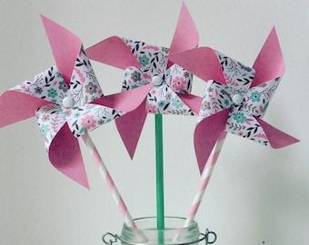 Medium pink liberty windmills and large model