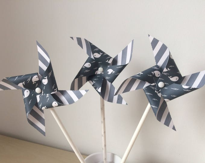 Windmills, whale, christening, table, kids room deco