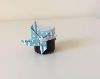étiquette cadeau bleu