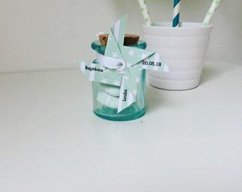 étiquette cadeau vert d'eau