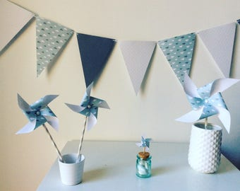 "Pack deco baptism windmills ""cloud"" to 20 people"