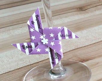 Marque place sur pince moulin violet