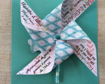 Share turquoise windmill & motifs