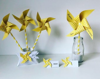 Pack deco yellow baptism