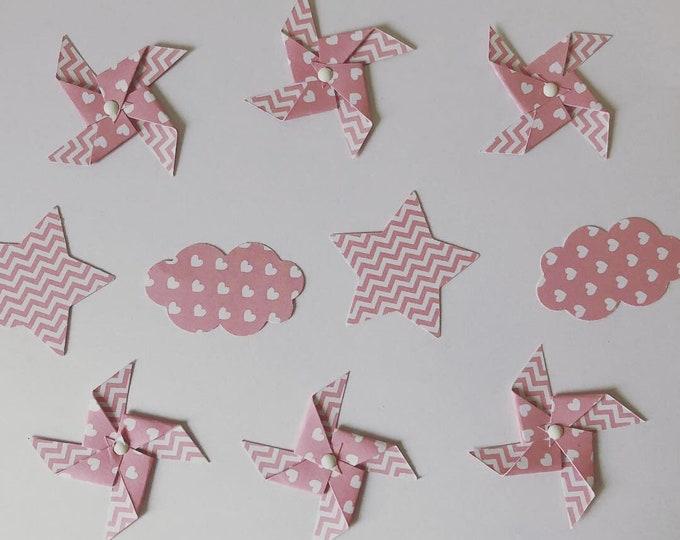 Confettis de table moulins à vent