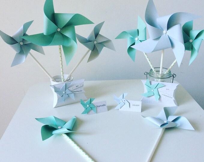 Featured listing image: Pack baptême, bleu pastel & menthe