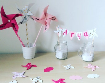 Confetti, decoration, wind, cloud, Star, fuchsia grinders