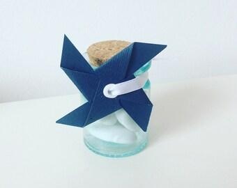 étiquette cadeau bleu marine