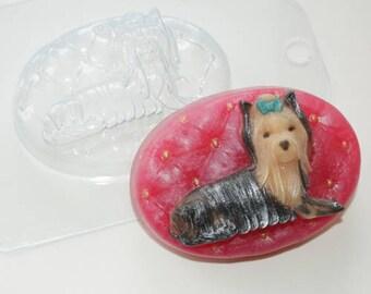 "/""Yorkshire Terrier 2/"" dog plastic soap mold soap making mold mould hob2"