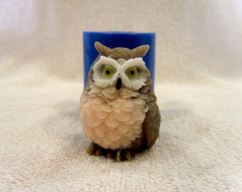Owl 2 - silicone mold for soap and candles making mould molds