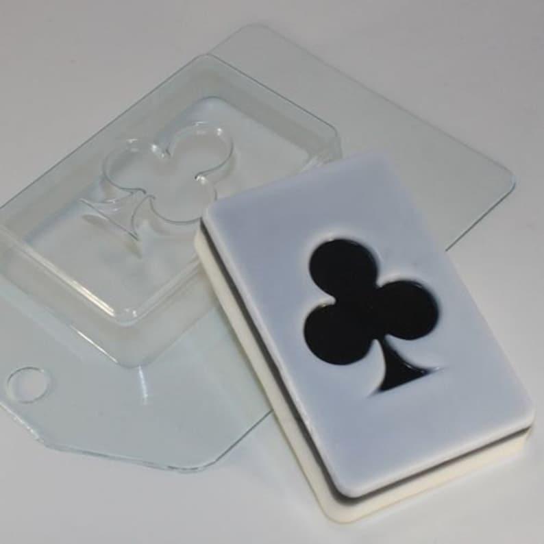 Clubs card plastic mold plastic soap mold soap making soap ...