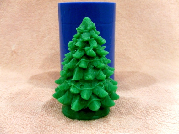 """/""""New Year tree/"""" silicone mold for soap and candles making mould molds"""