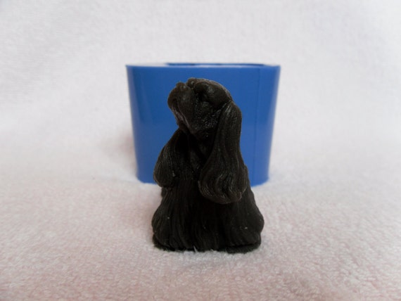 """/""""Cocker Spaniel 2/"""" dog silicone mold for soap and candles making"""