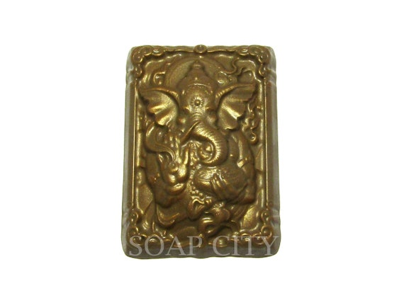 1pc Elephant Indian Rectangle Animal Plastic Soap Making Mold Mould 86x61x33mm