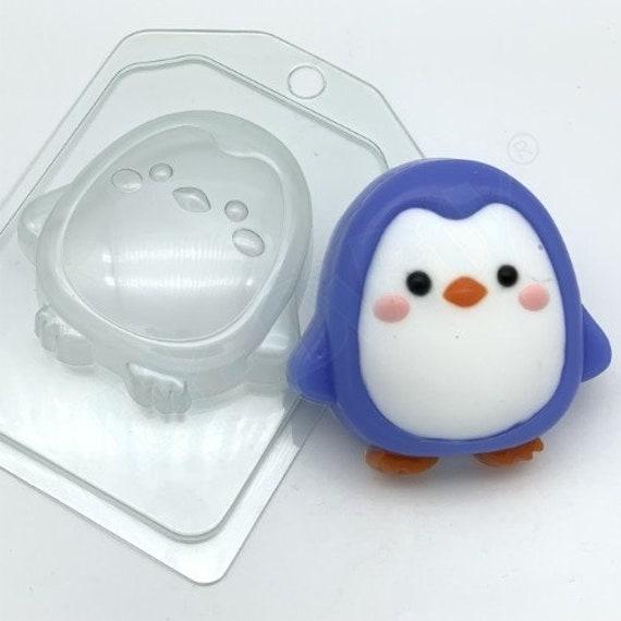 "/""Cartoon penguin 2/"" plastic soap mold soap making mold mould"
