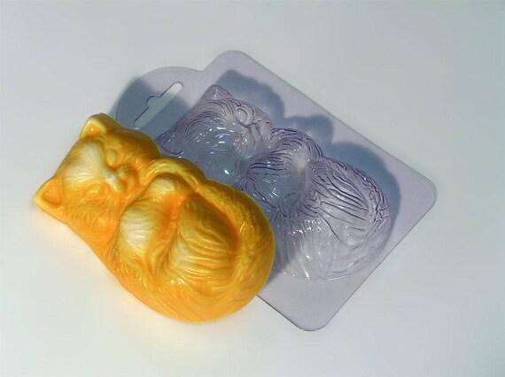 "/""Cat/"" plastic soap mold soap making mold mould"