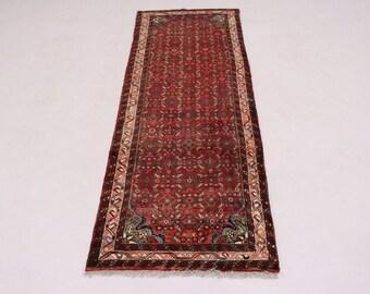 Lovely Hand Knotted Tribal Runner Hamedan Persian Rug Oriental Area Carpet 3X10