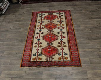 Charming Hand Knotted Tribal Shiraz Persian Wool Rug Oriental Area Carpet 5X8