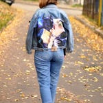 hand painted denim - painted jacket - clothes handpainting - custom denim jacket - painted jacket denim - denim jacket - wearable art - gift