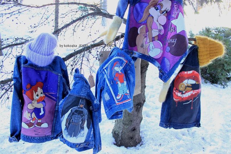 Children's denim jacket Girls jacket Boys jacket Baby jacket Trendy kids  Toddler jacket Fashion kids Distress jacket Unisex kids clothing
